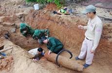 Quảng Trị: Xử lý quả bom nặng 227kg phát hiện sau sạt lở đất