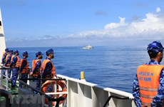 Cảnh sát biển Việt Nam và Trung Quốc kết thúc tuần tra liên hợp