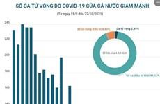 [Infographics] Số ca tử vong do COVID-19 của cả nước giảm mạnh