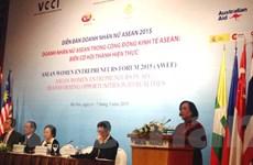 Diễn đàn Doanh nhân nữ ASEAN 2015: Biến cơ hội thành hiện thực