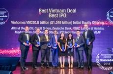SSI nhận hai giải thưởng về tư vấn IPO từ tạp chí Finance Asia
