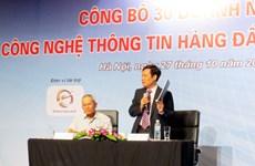 Công bố 30 doanh nghiệp công nghệ thông tin hàng đầu Việt Nam