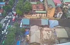 [Video] Vụ sập nhà kinh hoàng ở Thủ đô Hà Nội nhìn từ trên cao