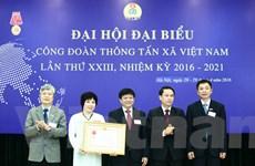 Công đoàn TTXVN đón nhận Huân chương Lao động hạng Nhất