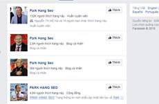 Cẩn trọng với Facebook giả mạo huấn luyện viên Park Hang Seo