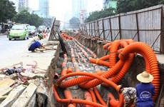 Hà Nội: Tiến độ hạ ngầm cáp viễn thông, điện lực còn chậm