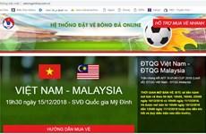 Cảnh giác với website giả mạo bán vé trận Việt Nam-Malaysia