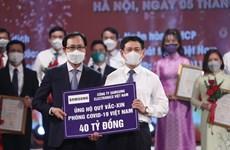 Samsung Việt Nam hỗ trợ 56 tỷ đồng phòng chống dịch COVID-19