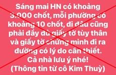 Hà Nội: Tung tin 3.000 chốt kiểm dịch lên Facebook, 1 cá nhân bị xử lý