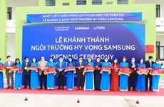 Samsung chính thức đưa trường học hy vọng tại Bắc Giang vào hoạt động