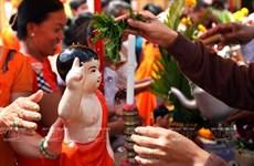 Lễ Tắm Phật của người Khmer trong dịp Tết Chol Chnam Thmay