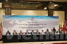ASEAN cam kết tiếp tục hợp tác phòng chống tội phạm xuyên quốc gia
