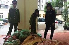 Hưng Yên phát hiện cơ sở chứa hơn 4 tấn thịt lợn thối
