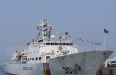 [Photo] Lễ đón tàu bảo vệ bờ biển của Hàn Quốc ở cảng Tiên Sa