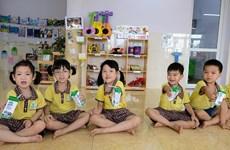 Hà Nội: Hơn 1 triệu trẻ em tham gia chương trình Sữa học đường