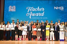 """NHG trao tặng 51 """"trái tim vàng"""" cho thầy cô giáo tận tụy với nghề"""