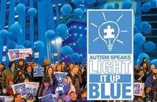 Nhiều địa điểm cùng thắp lên ngọn đèn xanh lơ vì người tự kỷ