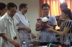 Con trai nữ Thiếu úy Đậu Thị Huyền Trâm được xuất viện