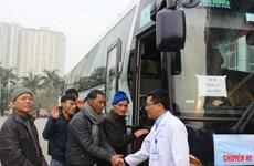 22 chuyến xe miễn phí đưa người bệnh về quê đón Tết
