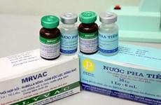 Khoảng 19 tỉnh thành triển khai tiêm vắcxin sởi-rubella của Việt Nam