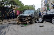 """Hà Nội: """"Xe điên"""" gây tai nạn liên hoàn, một phụ nữ tử vong"""