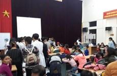 200 học sinh ở Bắc Ninh được đưa về Hà Nội xét nghiệm sán lợn