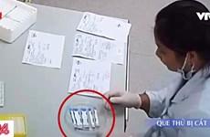 Bệnh viện Xanh Pôn thông tin về việc cắt đôi que thử nhanh HIV