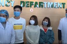Niềm vui của 3 bệnh nhân mắc 2019-nCoV trong ngày xuất viện