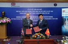 Việt Nam-Anh ký kết hợp tác chương trình nâng cao sức khỏe