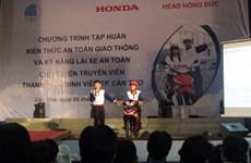 Honda Việt Nam đào tạo lái xe an toàn cho sinh viên