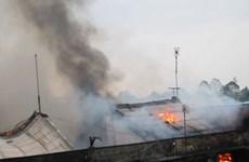 Vĩnh Long: Cháy tại chợ Cái Nhum gây thiệt hại lớn
