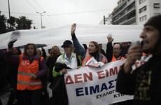 3.000 lao động Athens đình công phản đối giảm việc làm