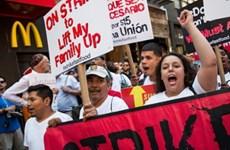 Làn sóng biểu tình rầm rộ của công nhân ngành đồ ăn nhanh ở Mỹ