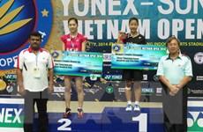 Indonesia thắng lớn tại giải cầu lông quốc tế Việt Nam mở rộng