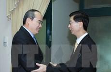 Ông Nguyễn Thiện Nhân tiếp Giám đốc Hiệp hội Nhân dân Singapore