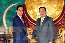 Thủ tướng Nguyễn Tấn Dũng hội kiến Tổng Bí thư, Chủ tịch nước Lào