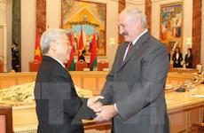 Tổng bí thư hội đàm với Tổng thống Belarus Lukashenko