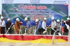 Quảng Bình: Khởi công phục dựng Di tích lịch sử Chùa Hoằng Phúc