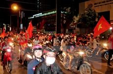 Công an Hà Nội dồn lực lượng đảm bảo trật tự đêm bán kết AFF Cup