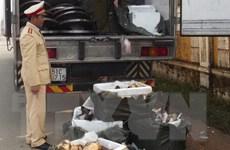 Bắt giữ hàng tấn động vật nhập lậu từ Trung Quốc vào Hà Nội