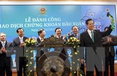 Thủ tướng đánh cồng mở phiên giao dịch chứng khoán đầu Xuân