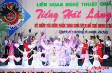 Hơn 800 diễn viên tham dự Liên hoan tiếng hát Làng Sen 2015