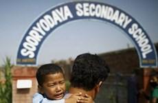Hàng nghìn trường học tại Nepal mở cửa trở lại sau thảm họa động đất
