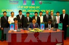 Ký hợp đồng xây dựng Tổ hợp NH3 Nhà máy NPK Phú Mỹ