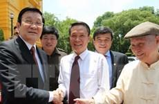 Chủ tịch nước Trương Tấn Sang gặp mặt đại diện các cơ quan báo chí