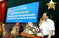 Bệnh bụi phổi chiếm tỷ lệ cao nhất các bệnh nghề nghiệp ở Việt Nam