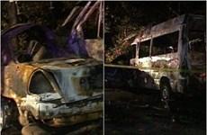 Gruzia: Xe cứu thương chở nạn nhân tai nạn tông xe cảnh sát