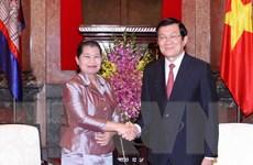 Chủ tịch nước Trương Tấn Sang tiếp Phó Thủ tướng Campuchia