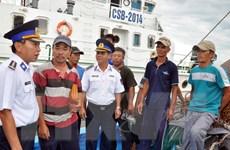 Quảng Nam: Lai dắt tàu cá và 8 ngư dân bị nạn vào bờ an toàn