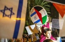 Hàng nghìn người Israel tuần hành ủng hộ hòa đàm với Palestine